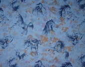 OOP Beautiful Spirit of the West PRAIRIE HORSE Flannel Cotton Fabric Equestrian Fabric New Rare