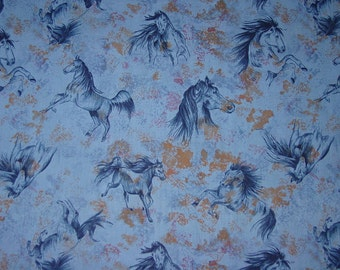 OOP Beautiful Spirit of the West PRAIRIE HORSE Cotton Fabric Equestrian Fabric New Rare