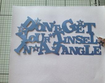 Christmas papercut template