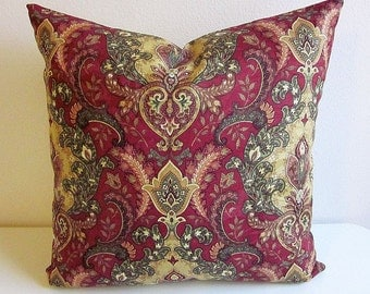 Moroccan Pillow, Turkish Pillow, Boho Pillow Cover, Heart Pillow, Indian Pillows, Jacquard Pillow, Burgundy Pillow, French Pillow