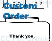 Custom Order Thank You Card
