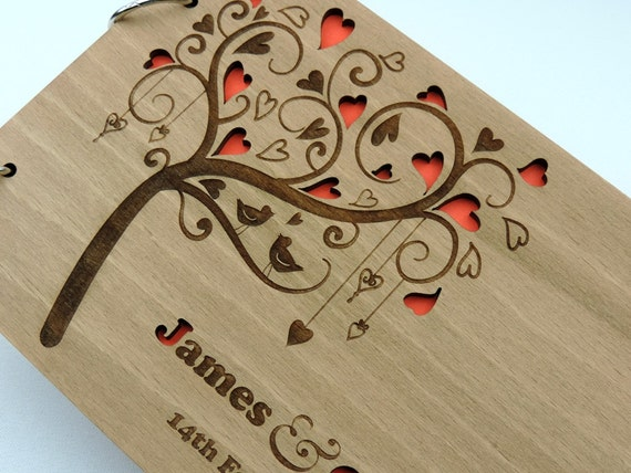 livre d 39 oiseaux livre d 39 or de mariage en bois rustique. Black Bedroom Furniture Sets. Home Design Ideas