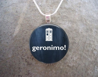 Doctor Who Jewelry - Glass Pendant Necklace - Geronimo