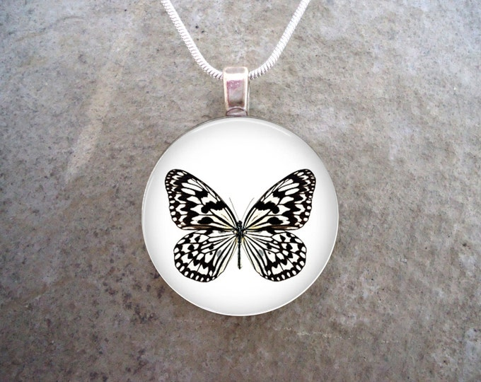 Butterfly Jewelry - Glass Pendant Necklace - Butterfly 29 - RETIRING 2017
