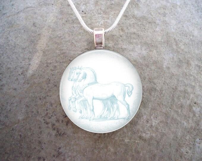 Winter Jewelry - Glass Pendant Necklace - Frozen Beauty 17 - RETIRING 2017