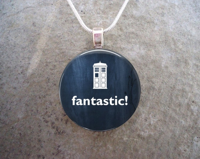 Doctor Who Jewelry - Glass Pendant Necklace - Fantastic!