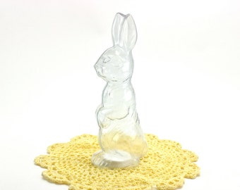 Vintage Plastic Bunny Candy Container, Easter Bunny, Easter Basket, Collectible Candy Holder, West Germany, Epsteam