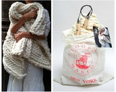 DIY Knit Kit - Nantucket Throw 28'' x 40''  (70 cm x 100 cm )