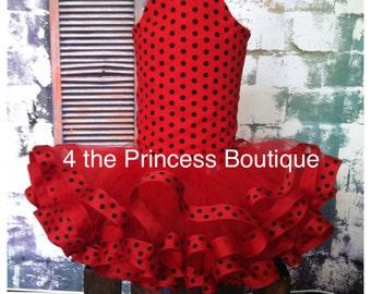 Ladybug tutu outfit , ladybug corset top , ladybug halloween outfit , ladybug birthday outfit , ribbon tutu