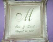 Custom Embroidered Wedding Anniversary Pillow