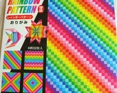 Origami Paper - 36 sheets of 15cm (6 inches) Vibrant rainbow origami paper