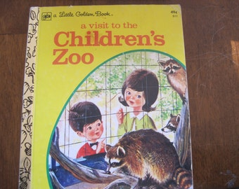 Vintage A Visit to the Children's Zoo, Little Golden Book