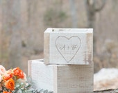 Heart Flower Wooden Boxes by Burlap and Linen Co