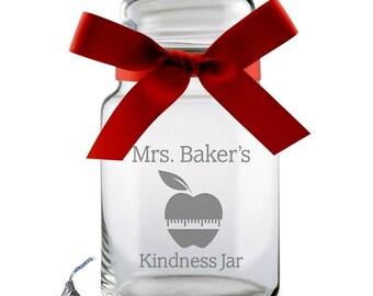 Teacher's Personalized Candy Jar