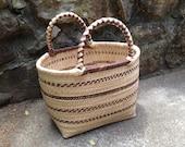 Fair trade hand woven large grass basket