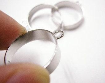 6pc platinum look ring shanks-522