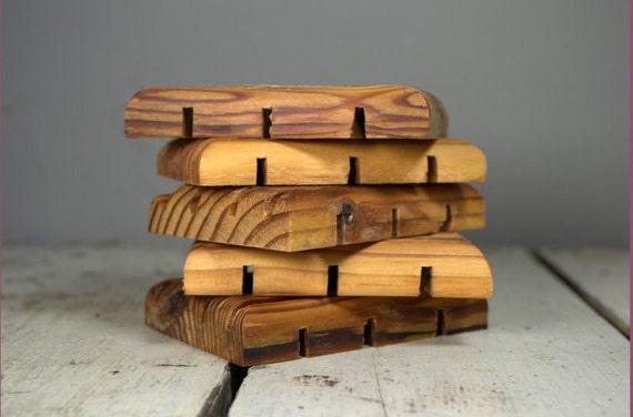 Reclaimed Wooden Soap Dish - Derby City Soap Company