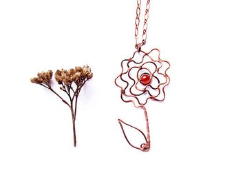 Wire Rose Tutorial, Wire Wrapped Flower Necklace Tutorial, Floral Pendant Tutorial, jewelry tutorial 37