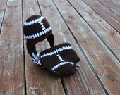 Earflap Football Hat and diaper cover set- Made to Order- Any Size