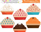 INSTANT DOWNLOAD, thanksgiving pies clipart, for commercial use, personal use, invites, cards, scrapbooking