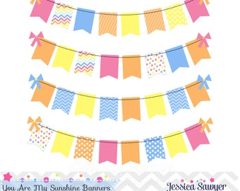INSTANT DOWNLOAD, sunshine bunting banners for personal and commercial use