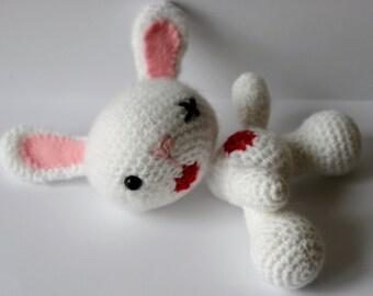 Headless bunny amigurumi