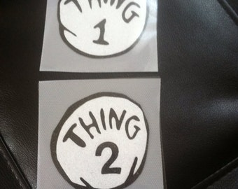 Thing 1, 2, 3, and 4 Vinyl Decals