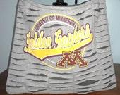 Minnesota Recycled/Upcycled Tshirt Cross Body Bag