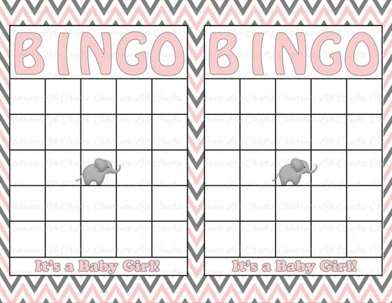 Items similar to bingo cards blank baby shower bingo card digital items similar to blank baby shower bingo cards printable baby boy instant maxwellsz