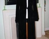 1940s black velvet evening coat plus size 16 18