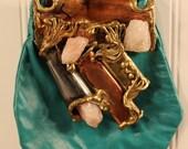 Vintage 70s Carvalhu's Ernandes Brutalist Copa Collection Leather Shoulder Bag Purses
