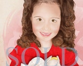 SOLD Custom Color Illustrated Child Portrait Digital Format