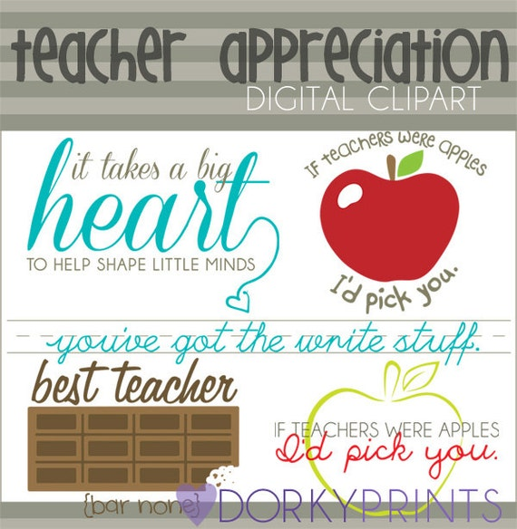 Teacher Appreciation Clipart Personal and Limited Commercial