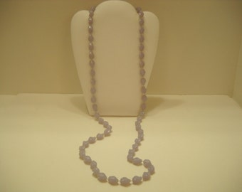 """Vintage Sarah Coventry 36"""" Twisted Lavender Beaded Necklace (1581)"""