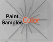 PAINT COLOR SAMPLES on Metal Mailed to Your Home