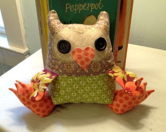 Wise Guy Owl - Bookend or Plushie PDF pattern