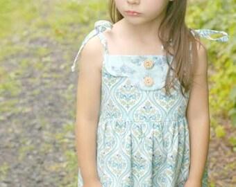 Adele - Twirl Vintage Style Dress Pattern.  Girl's Sewing Pattern. Kids Clothing.  PDF Pattern Sizes 1-10