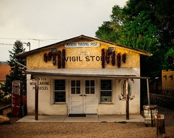 New Mexico Photography, Chimayo, Vigil Store, Travel, Golden Light, Red Ristra, Country Store, Americana