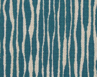 Turquoise Abstract Upholstery Fabric - Modern Blue Fabric for Furniture Upholstery - Contemporary Dark Aqua Blue Stripes - Turquoise Pillow