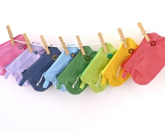 pouch clutch  zipped pouch,  polka dot clutch pouch in 11 colors