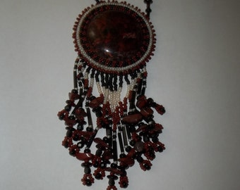 Beautiful Native American Pendant Necklace  Ships Free in the USA Thanksgiving, Black Friday, Cyber Monday, Christmas