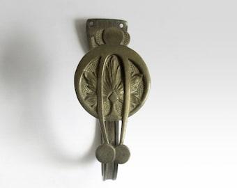 French Art Nouveau Brass Hook. Curtain Tieback. Hat Hook. Towel Hook.