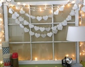 Reserved for Deborah***Sewn Paper Heart Garland, 10 Feet, French dictionary pages