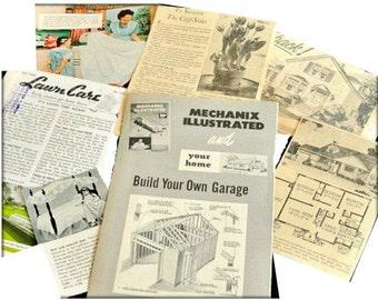 Mid Century Advertising Ephemera, set of 7, Scrapbooking, Card Making, Paper Crafts