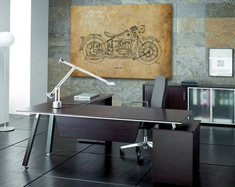 BMW R51 1938, 12x8.50 in to 60x42in. Based on my Original Handmade Drawing, large art print, for men office