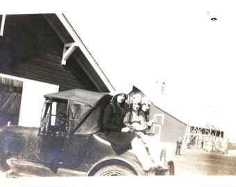 Going Our Way and Home Sweet Home Two Vintage Black and White Photographs