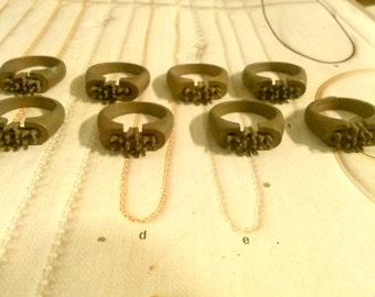 8 Brass Rings with 3mm Settings