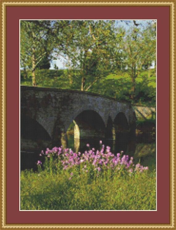 Burnside Bridge Cross Stitch Pattern /Digital PDF Files /Instant downloadable