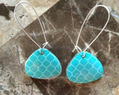 Turquoise Statement Earring-One of a Kind-Hand Made-Designs by Stalinda