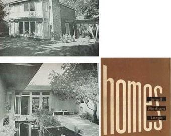 1949 HOMES Small Medium Large Progressive Architecture mid century modern book